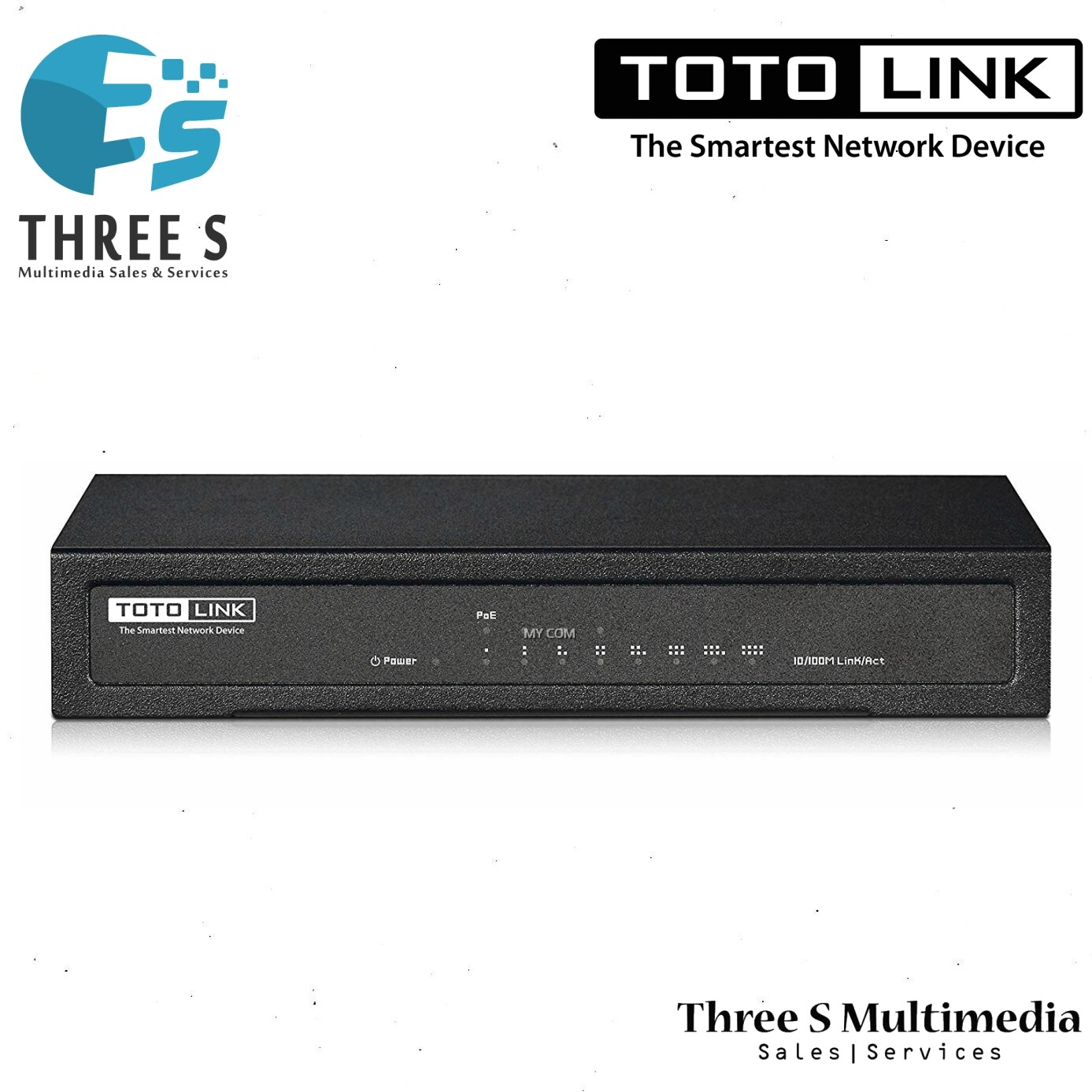 TOTO LINK 8-port 10/100Mbps Ethernet Switch With 4-Port PoE SW804P
