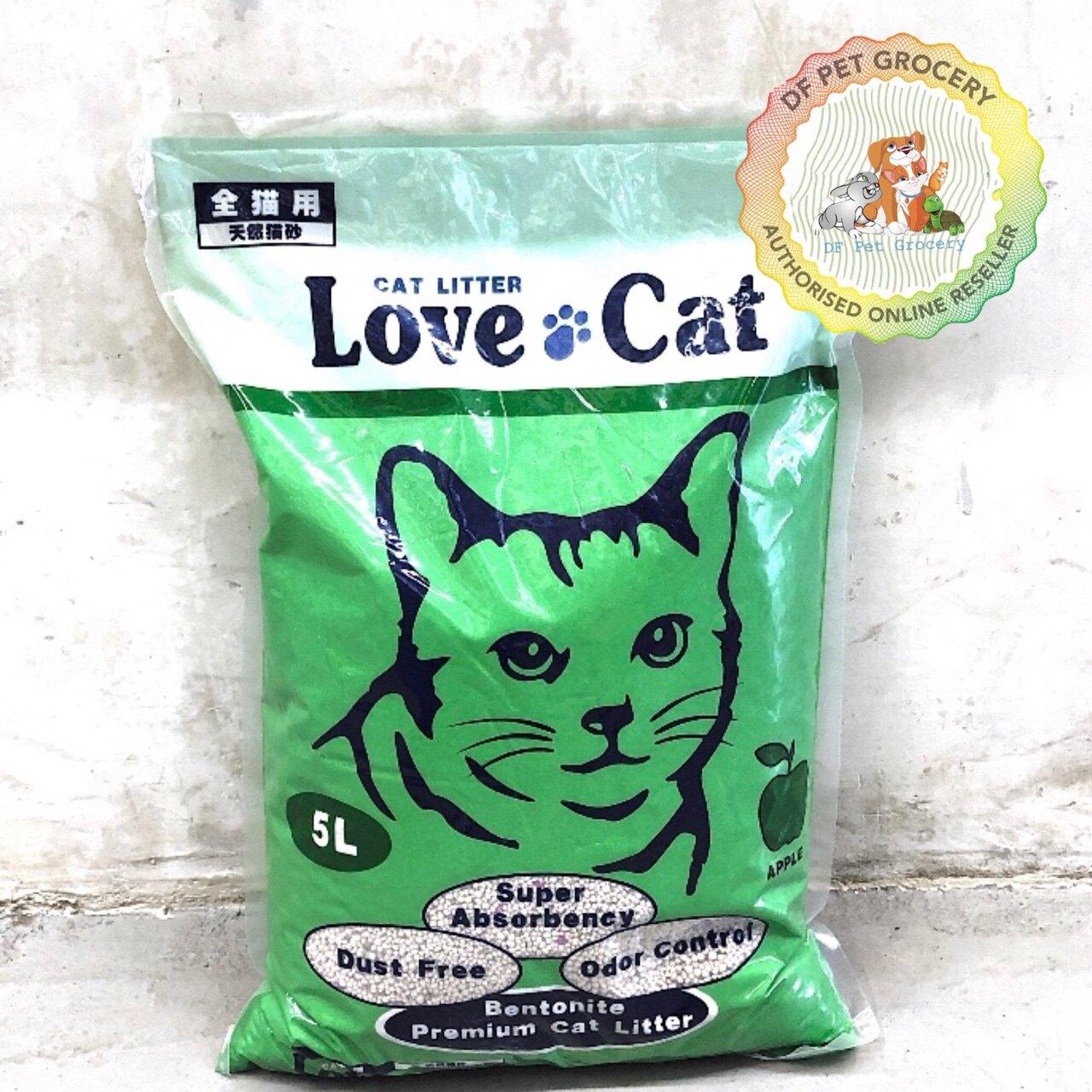 LOVE CAT Premium Cat Litter 5L Apple - pasir Kucing