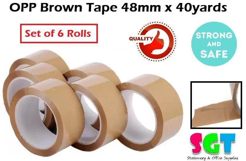 OPP tape brown 48mm x 40 yards (6 rolls/pack)