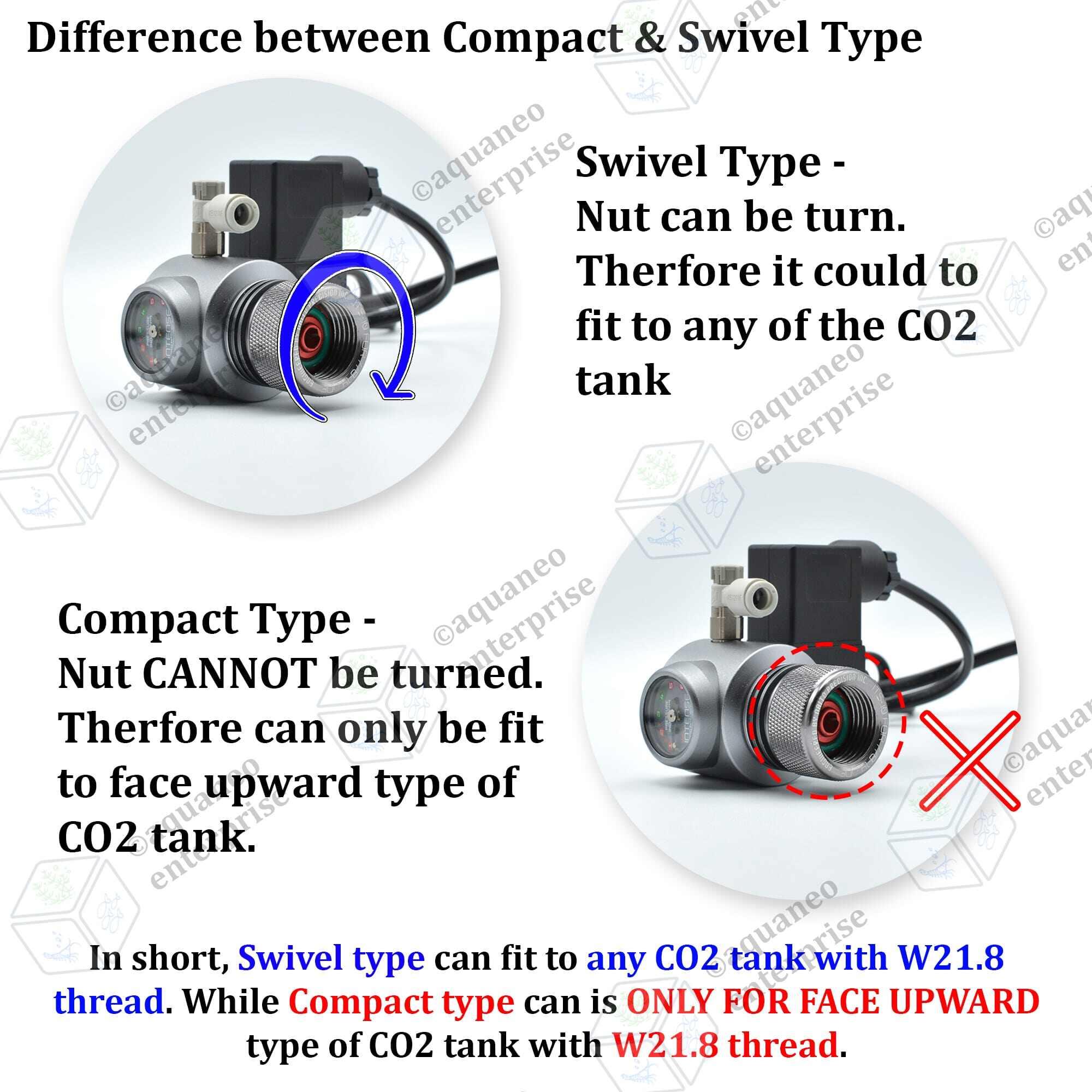 Intense Solenoid CO2 Regulator Swivel - Basic