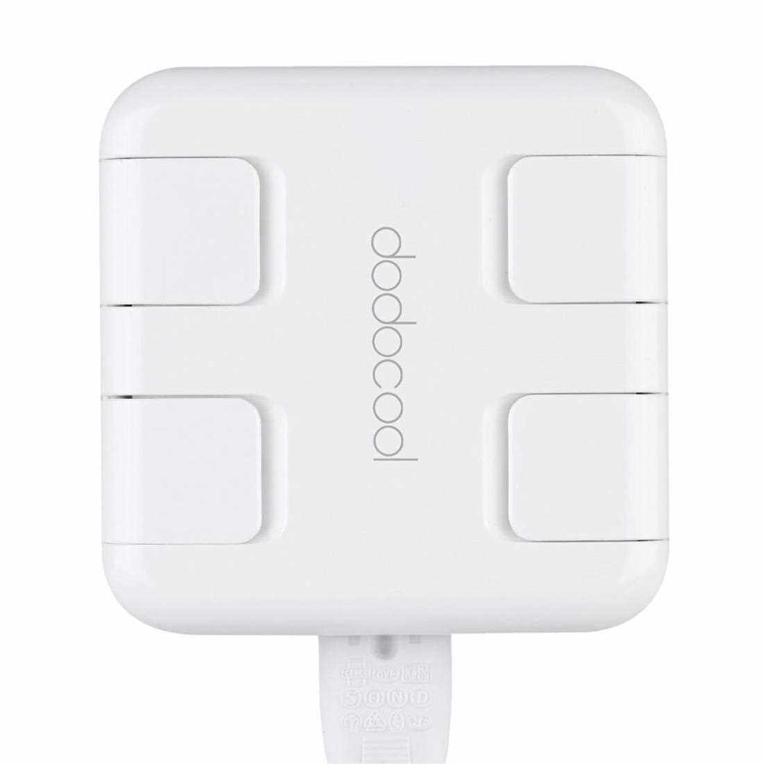 Best Selling 25W / 5.4A 4 Ports Universal USB Power Adapter with Intelligent Current Recognition for Travel Mobile Cell Phones Tablet PC Smart Fast Charger (White)