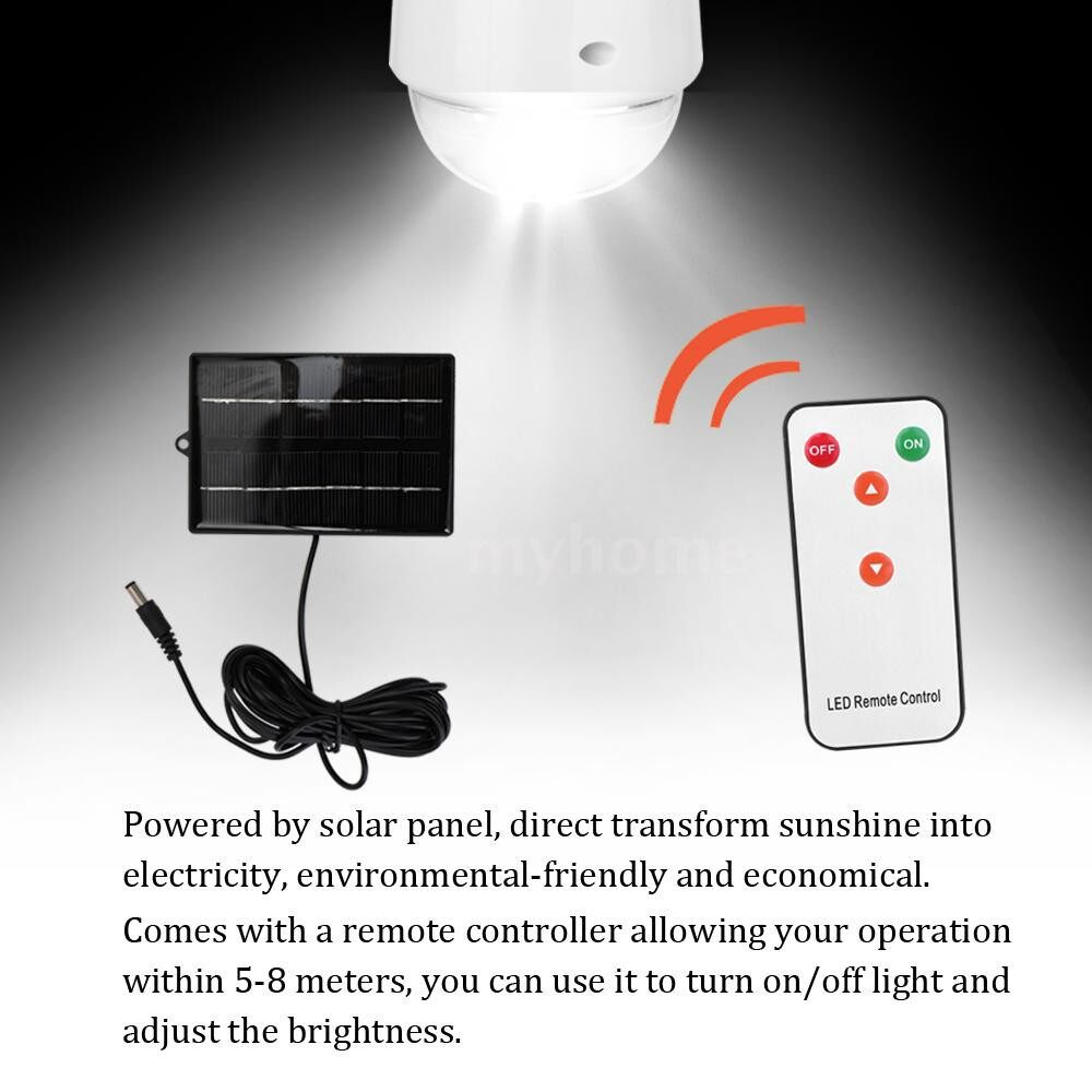 Outdoor Lighting - PORTABLE 12LED Solar Light Bulb Lamp Outdoor Camping Yard Emergency Lighting Remote Control - WHITE