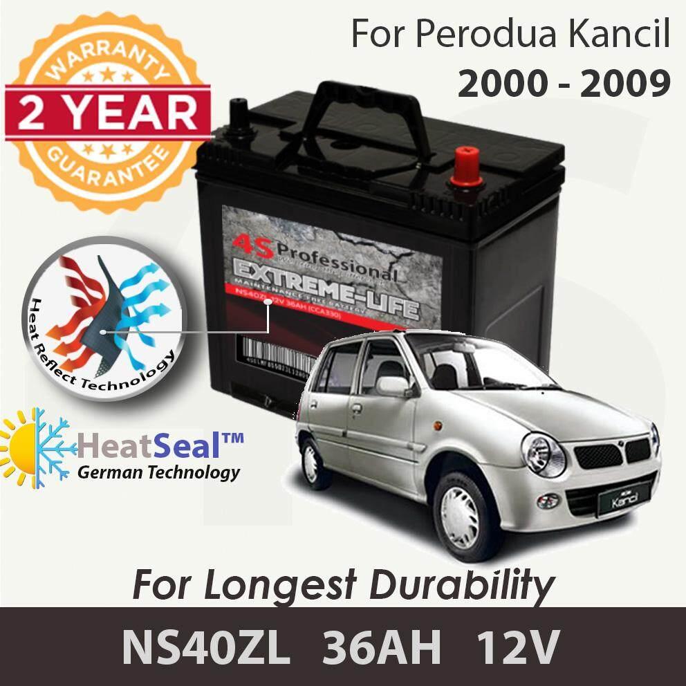 [Free Self-Installation Kit] Perodua Kancil 2000-2009 NS40ZL (36B20L) 4S Professional Extreme-Life MF Maintenance Free Car Battery (24 months Warranty) equal to NS40 Amaron Go /GP MF Gold / Varta Silver /Century Gold