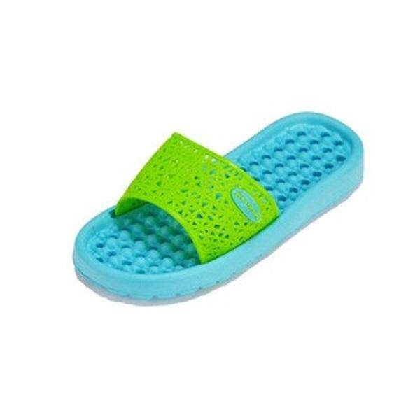 (Ready Stock in Selangor) Anti Slippery Bathroom/Indoor Slipper with HOLE - Green Blue