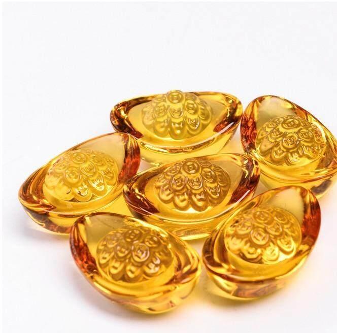 Gold Citrine/ Gold Ingot/ Gold Yuan Bao/ Citrine Gold/ Chinese Feng Shui Money          /