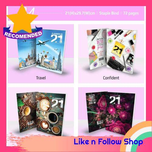 [A4 SIZE] Planner Book 2021 + FREE ! School Planner #4designs Ready Stock