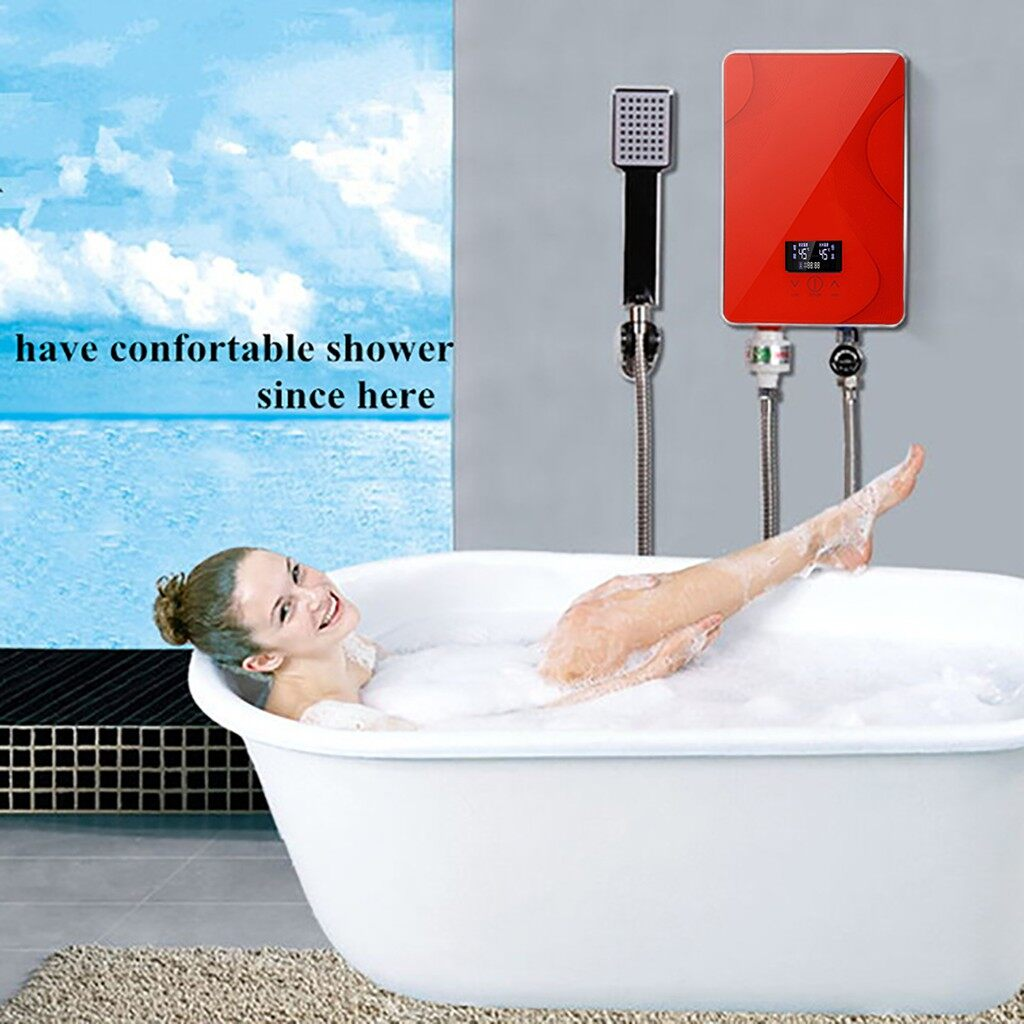 Water Dispensers - 6.5KW 220V Tankless Instant ElectricWater Heater Bathroom Shower - Large Kitchen Appliances