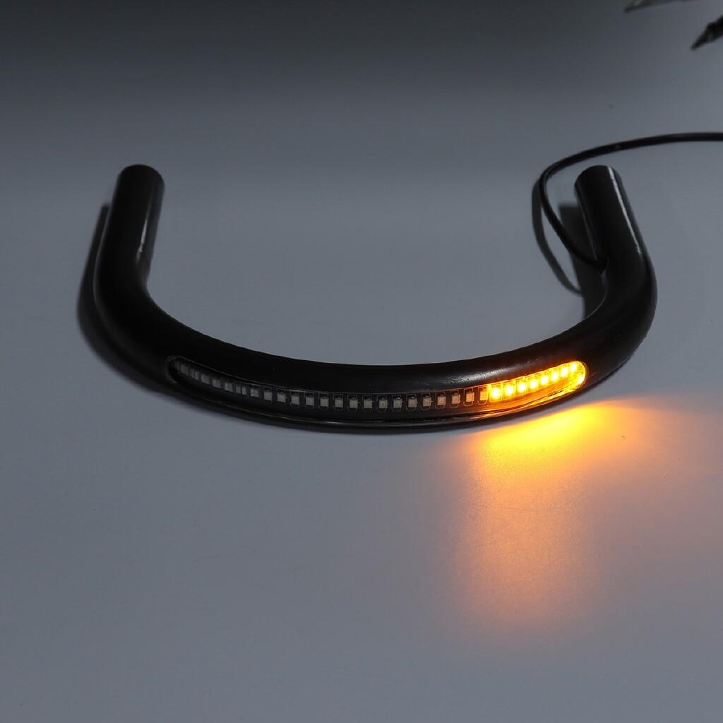 Moto Accessories - 227mm Racer Frame Hoop Tracker End Flat Seat Loop Large With Turn Brake Light - Motorcycles, Parts