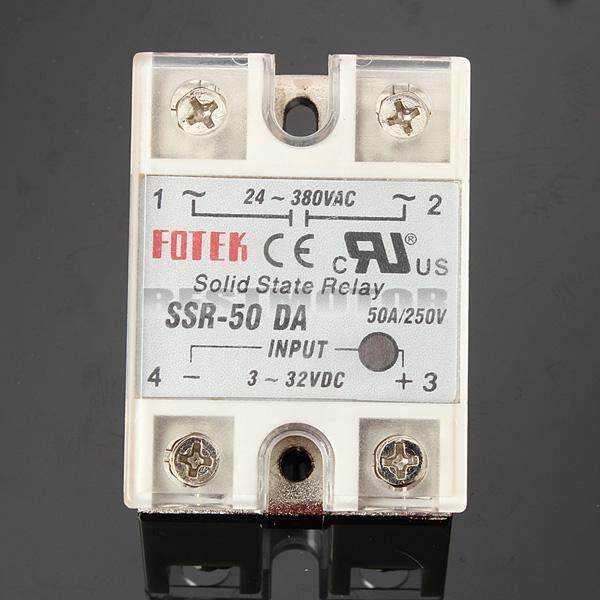 1 SET Solid State Relay SSR50DA 332VDC 50A/250V Output 24380VAC w/ - Automotive