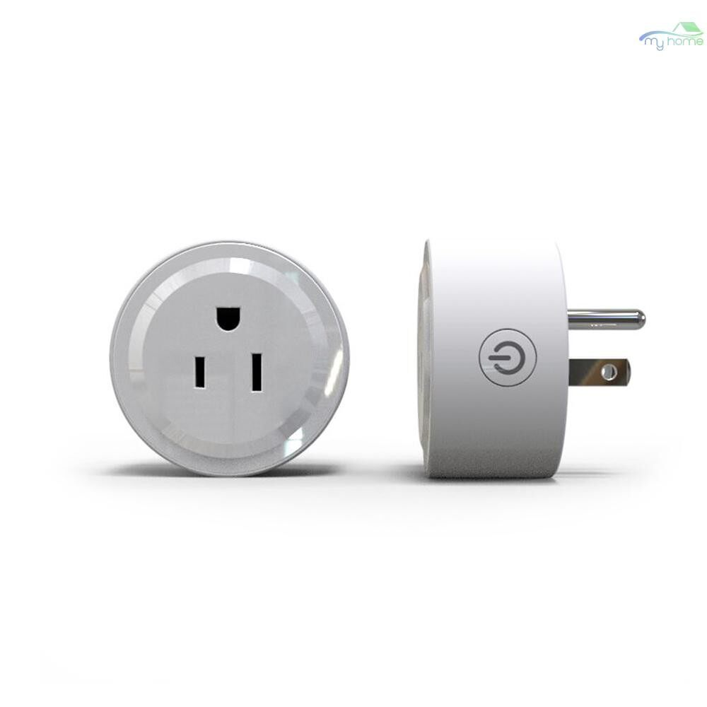 Chargers & Power Supply - 2 PIECE(s) Wifi Smart Plug Wi-Fi Enabled MINI Socket App Remote Control WIRELESS PORTABLE Automatic Timer - Components
