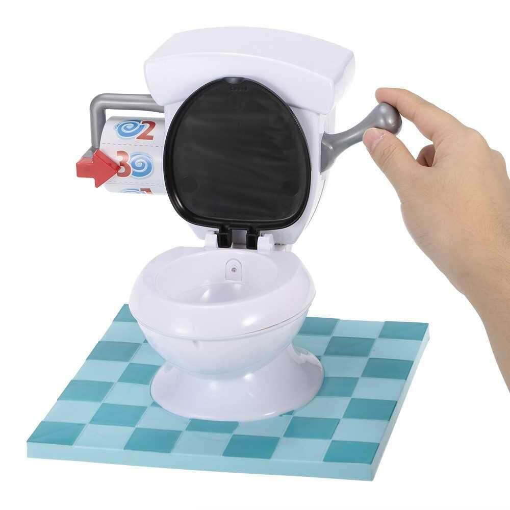 Spray Water Toilet with Flush Sound Effects Tricky Sprinkler Game for Child and Parents