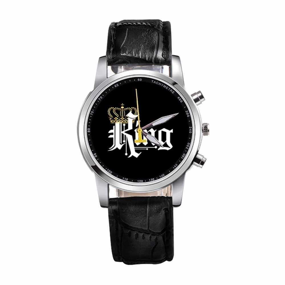 Best Selling KING QUEEN Quartz Movement Boys And Girls Watch (Black)