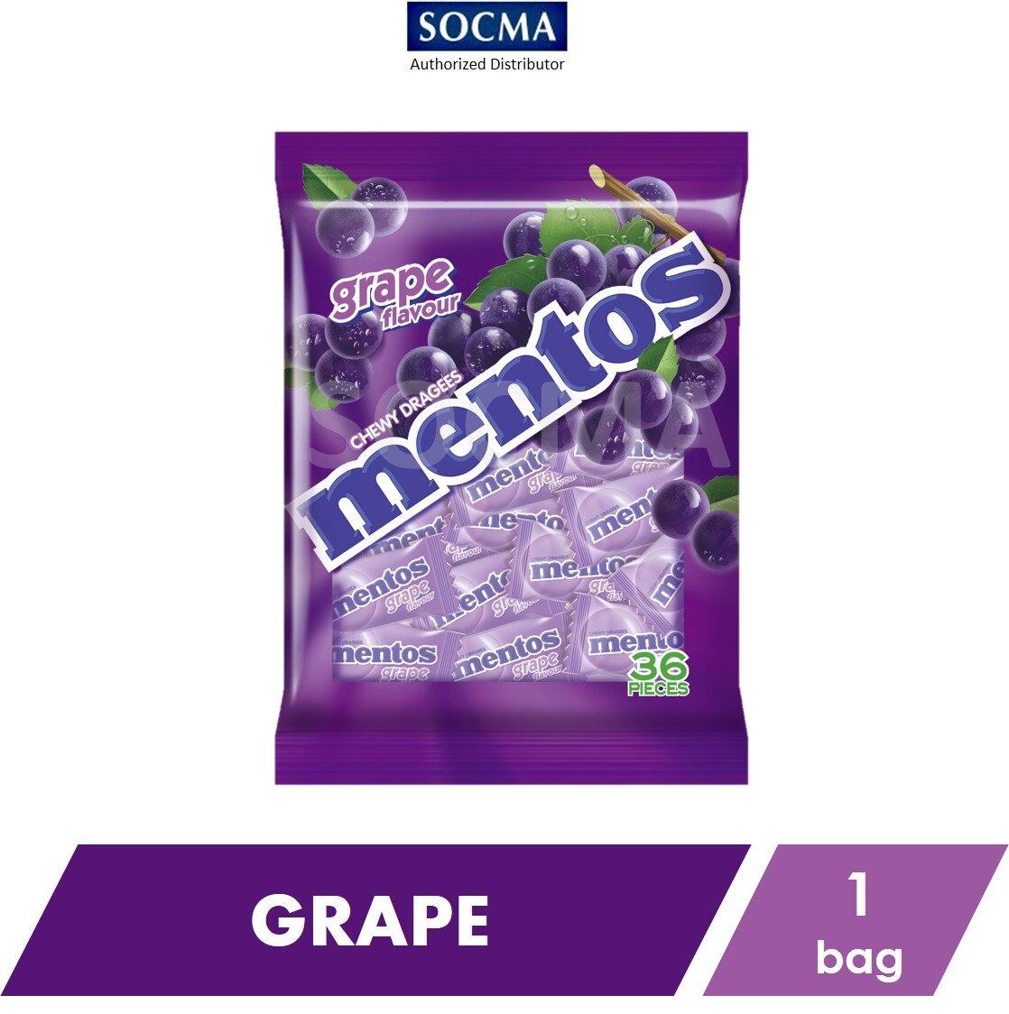 Mentos Pillow Pack Bag Grape 36s [1]