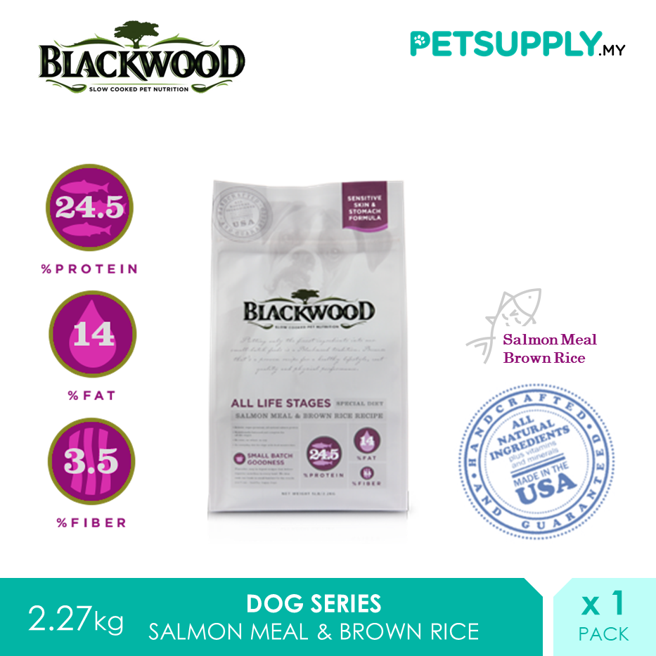 Blackwood All Life Stages Salmon Meal And Brown Rice Recipe Dry Dog Food 2.27kg [Treat Snack - Petsupply.my]