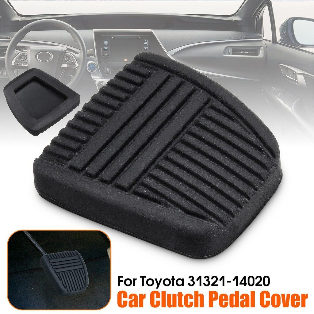 Pedals - Black Rubber Clutch & Brake Pedal Braking Replacement Pad For Toyota 31321-14020 - Car Accessories
