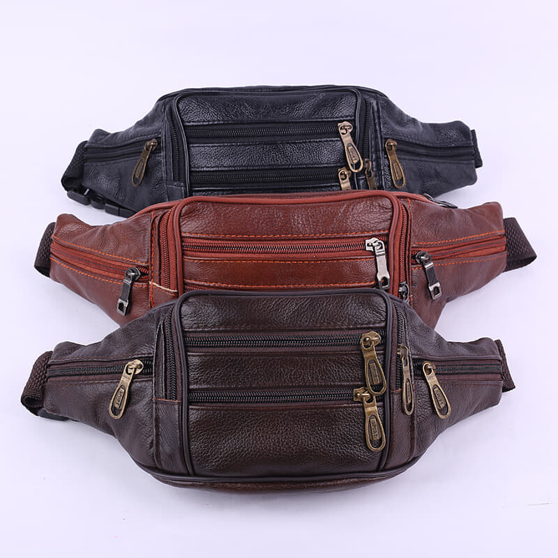 [M'sia Warehouse Direct] 2020 Korean Series Leather Waist Pouch Chest Bag Sling Stylish Waist Pack Multipurpose Formal Casual Shoulder Bag Crossbody Multifunctional String Prefect Gift For Love One Kulit Halal