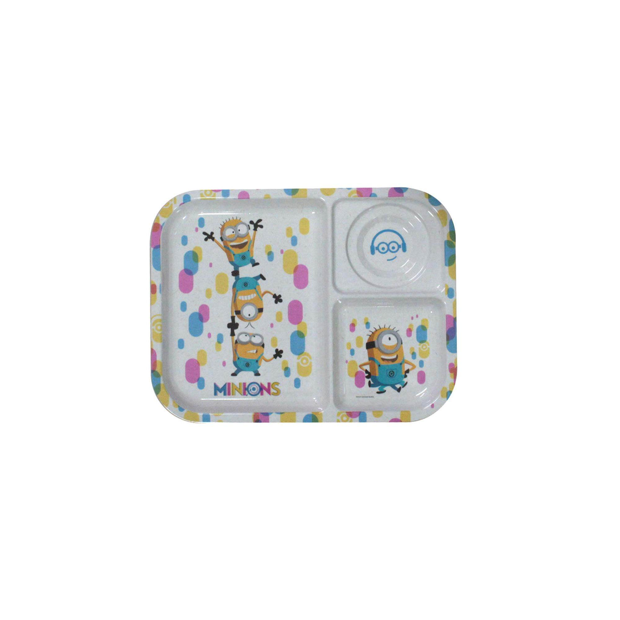 Despicable Me Minions 10.5 Inch Children Melamine Section Tray