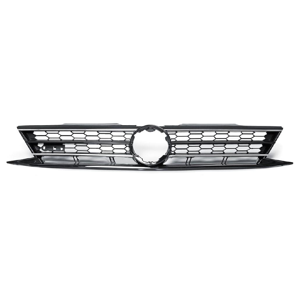 Car Stickers - Car Front Honeycomb Hex Mesh Grille Bumper Trim For VW Jetta MK6 Sedan 2015-2017 - Accessories