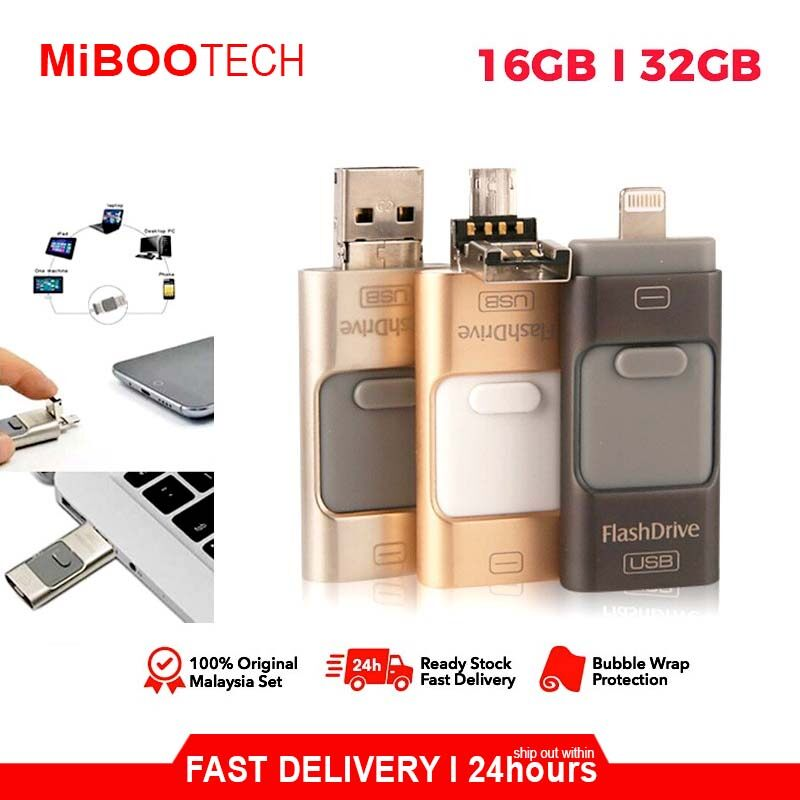 [B2B] iFlash Device Memory PenDrive 16GB I 32G Data Storage Dual USB-Flash Drive For iPhone 7 plus 6s 6splus 6 6plus Ipad air2