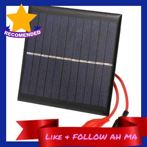 Best Selling 1W/5.5V Portable Solar Charger With Alligator Clip Compact Solar Panel For Garden/Traffic/Emergency Light Solar Pump Outdoor Advertisement 3.7V Battery (Standard)