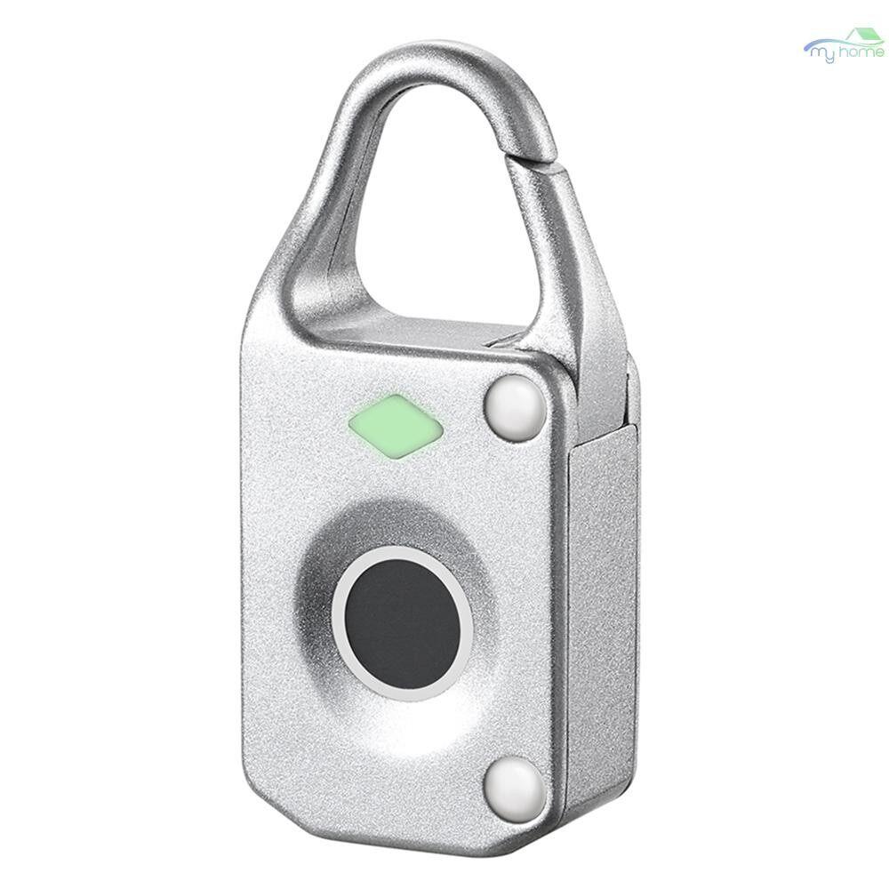 Chains & Locks - Fingerprint Lock Intelligent Keyless USB Charge Waterproof Anti-theft Security Door Luggage Lock - SILVER / BLACK