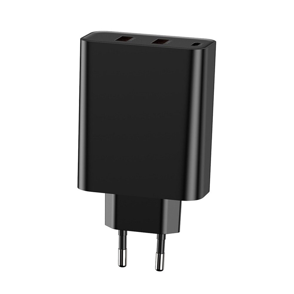 Chargers - Baseus PPS 5A 3 Quick Charge 4.0 3.0 60W EU Charger Adapter For iPh X XS Oneplus 7 Pocophone - WHITE / BLACK