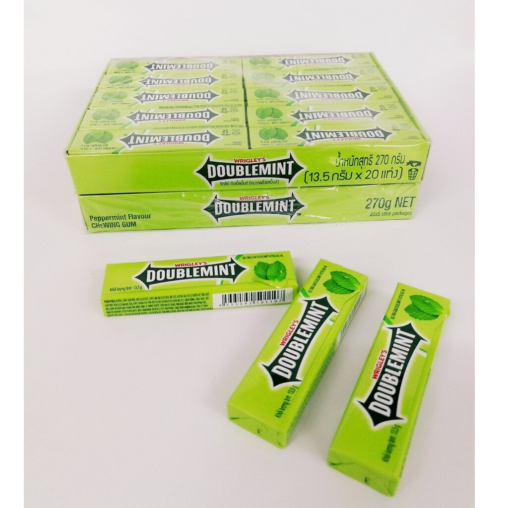 WRIGLEY'S DOUBLEMINT CHEWING GUM 13.5G