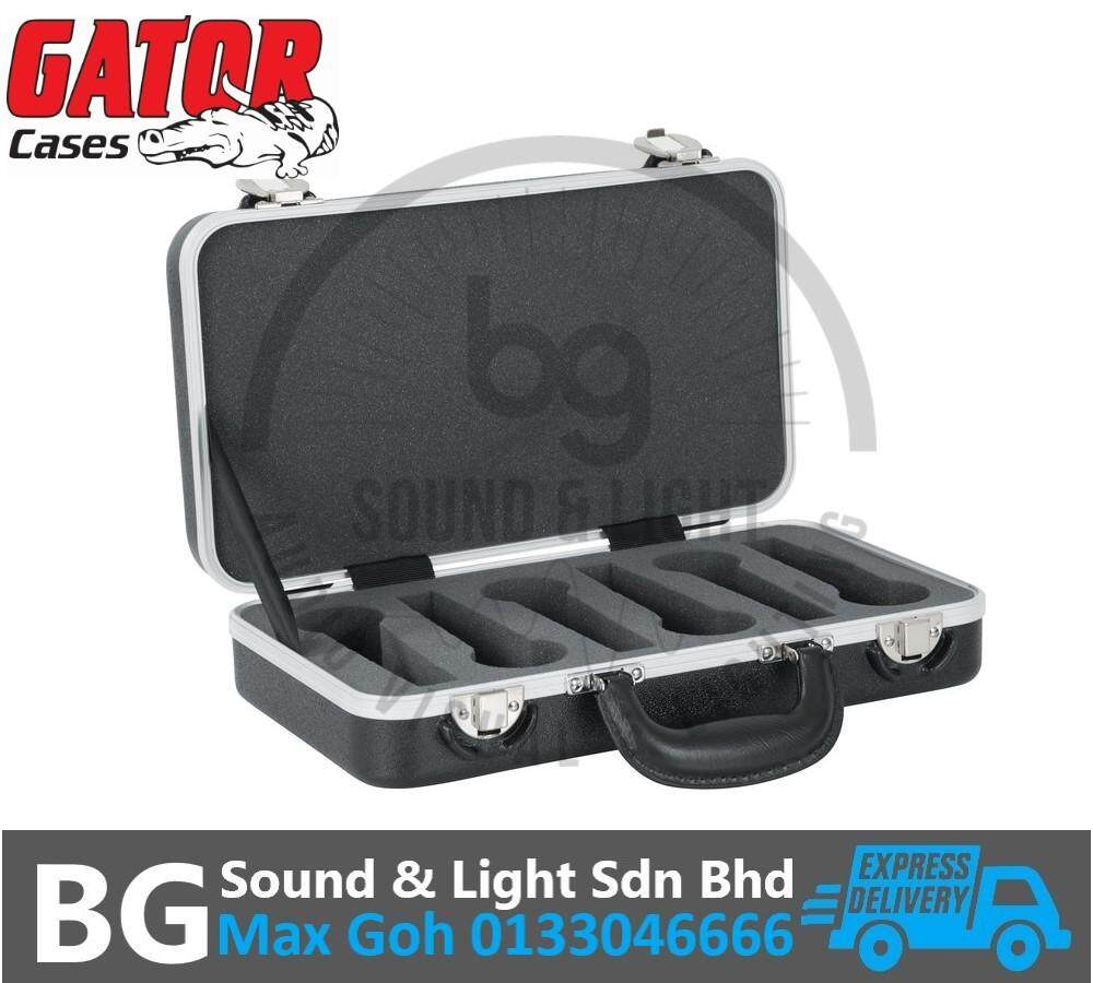 Gator Cases GM-6-PE 6 Space Polyethylene Mic Case - for up to 6 Microphones and Accessories