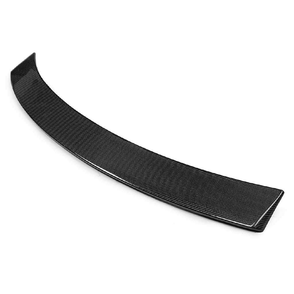 Engine Parts - Real Carbon Fiber Rear Roof Spoiler For Mercedes Benz W204 C-Class 2008-2014 - Car Replacement