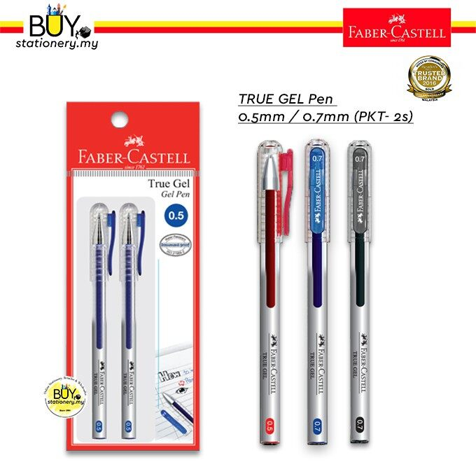 Faber Castell True Gel Pen 0.5/0.7 - (2s/PKT)
