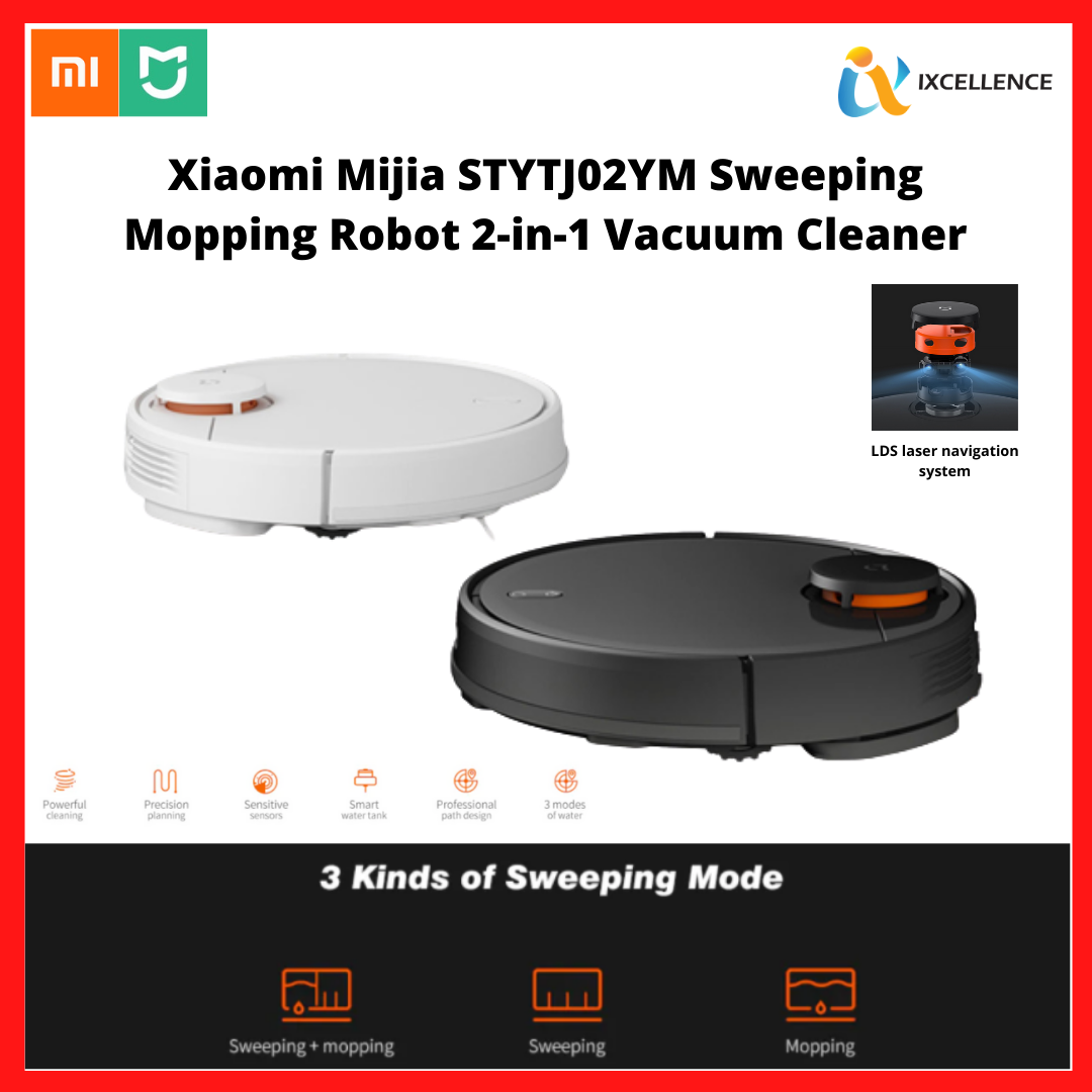 [IX] Xiaomi Mijia Robot Vacuum Mop & Sweep 2 in 1 Vacuum Cleaner LDS Laser Navigation Version (STYJ02YM)