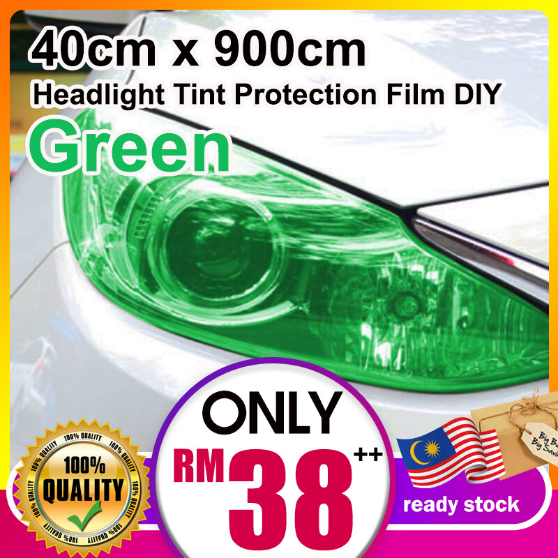 Green 40cm x 900cm  Car Headlight lamp /  Car Lamp Tinted / Headlight Tint Protection Film DIY