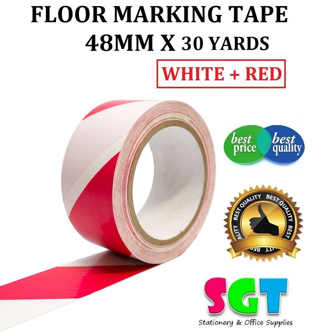 Floor Marking Tape 48mm X 30 Yards (White + Red)