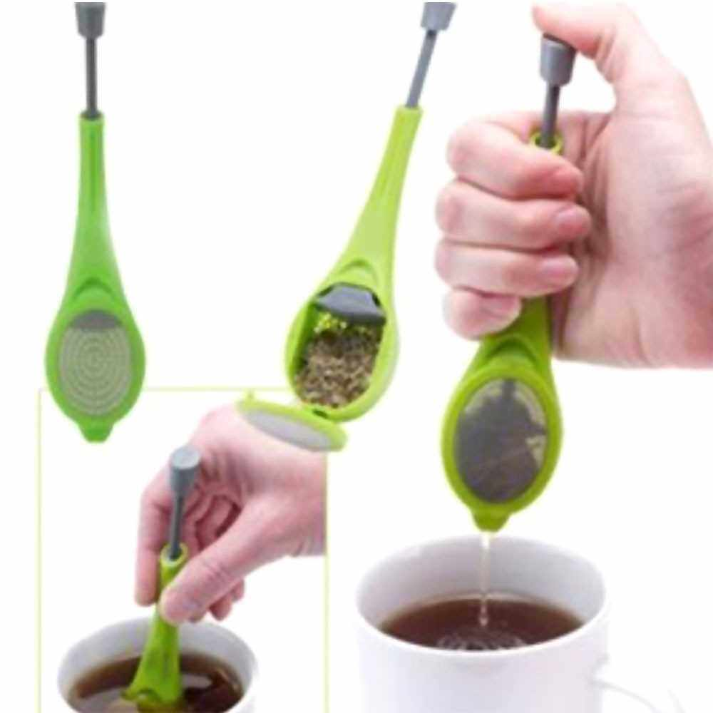 Extra Fine Mesh Tea Infuser Squeeze Tea Strainer Tea Filter with BPA-Free PP Handle for Tea Cups Mugs Teapots (Standard)