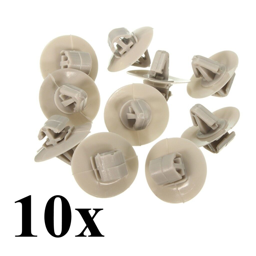 Automotive Tools & Equipment - 10x Clips for Renault Trafic Traffic Side Moulding / Lower Protection Door Trim - Car Replacement Parts