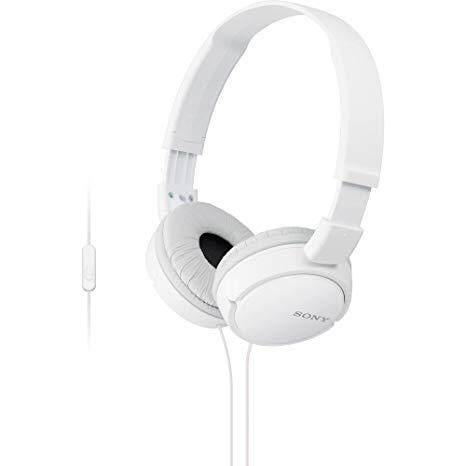 Sony MDR-ZX600 AP On Ear Headphones With Mic WHITE
