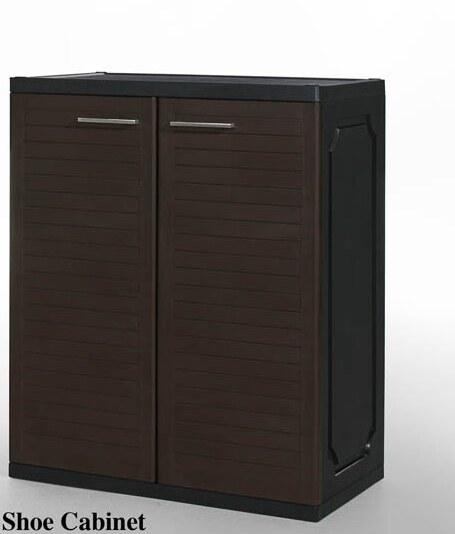 Shoe Cabinet - Brown-Plastic
