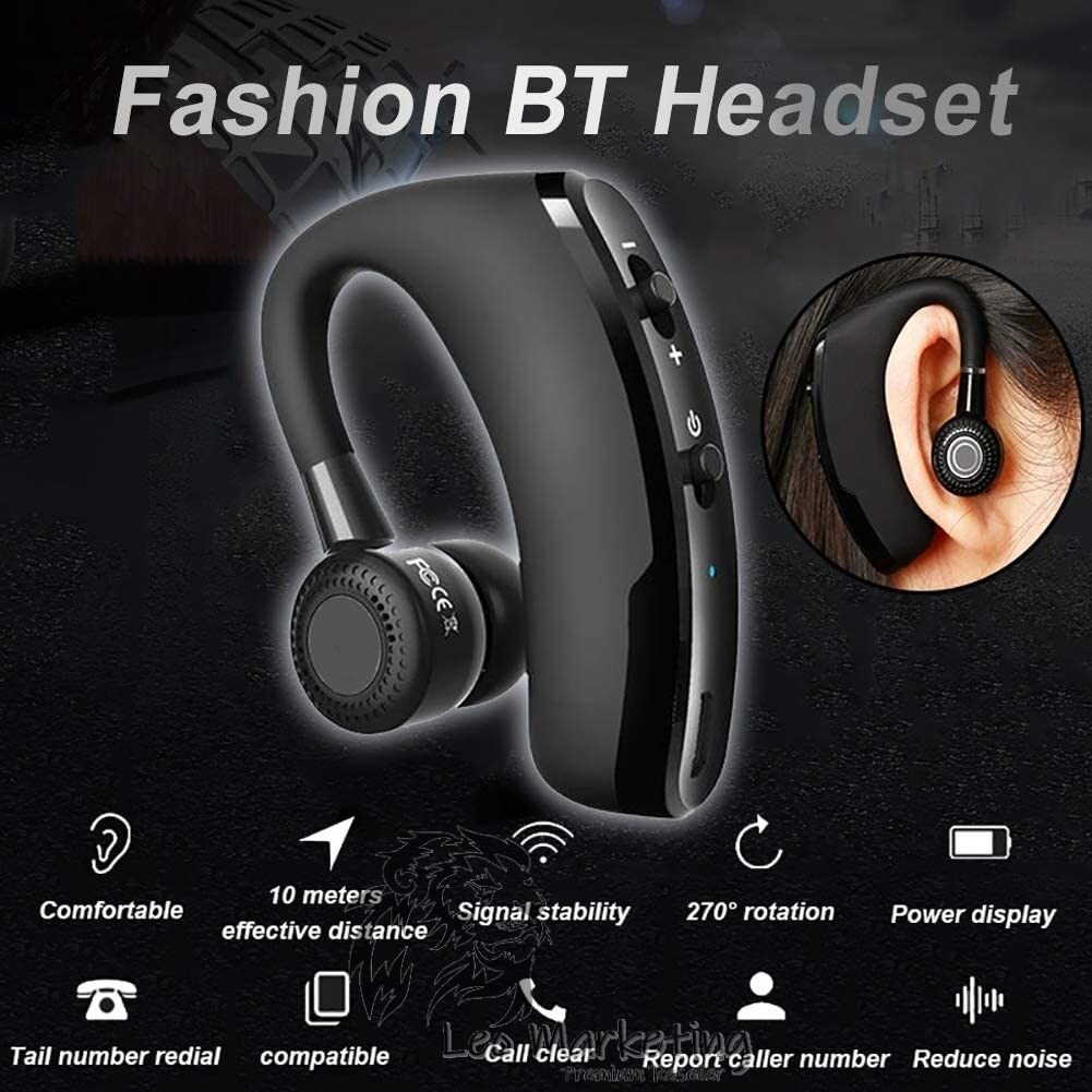 Leo Marketing 100% Original V9 Version Business Hanging Ear Wireless Csr Bluetooth Earphone Stereo Voice Ready Stock