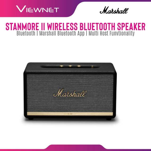 Marshall Bluetooth Stanmore II Speaker (Black / White) Wireless Connect Iconic Marshall Design Multi-Host Functionality