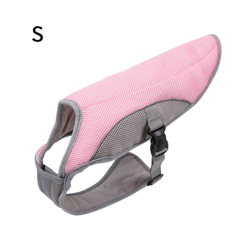 [comebuy88]summer Dog Cooling Clothes Breathable Cooling Harness Adjustable Mesh Reflective Vest Coat Quick Release Pet Dog Clothes Pink.