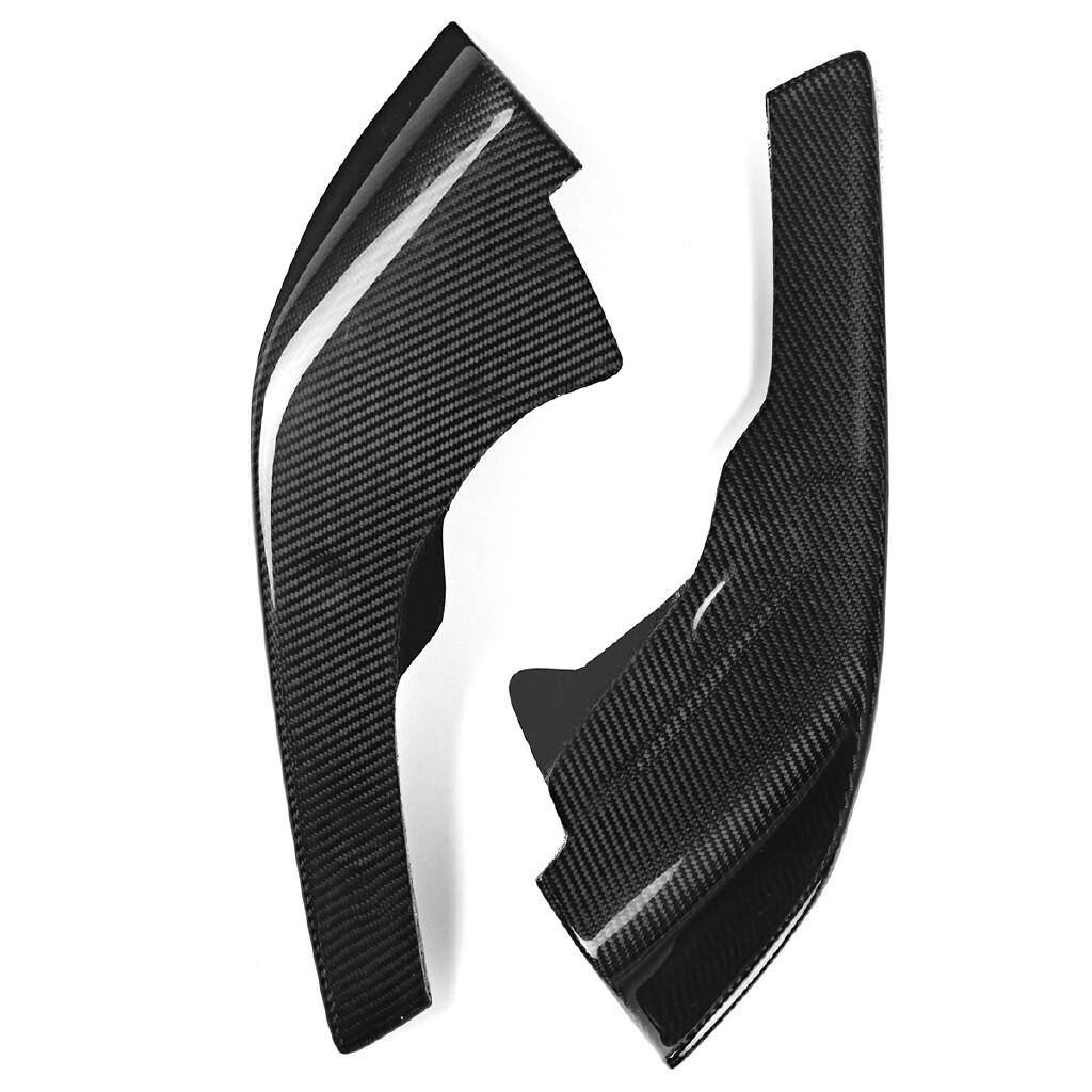 Engine Parts - 2 PIECE(s) Carbon Fiber Front Bumper Splitters Lip Fits For BMW F87 M2 2016 2017 - Car Replacement