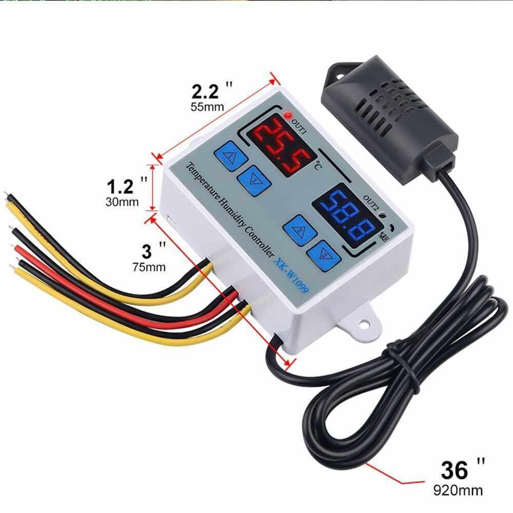 Dual Digital Temperature Humidity Controller Home Fridge Thermostat Humidistat Thermometer Hygrometer XK-W1099 AC110-220V (3)