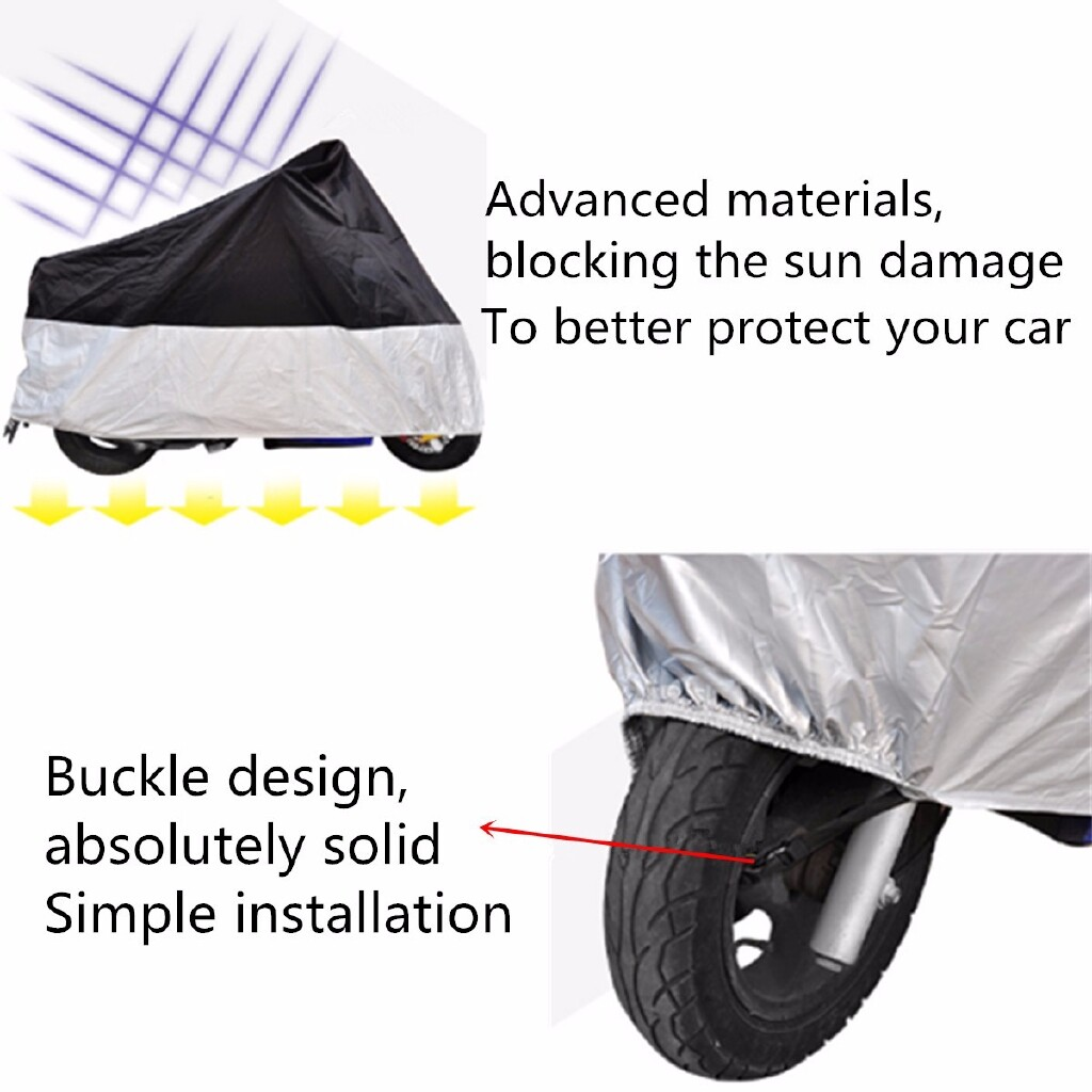 Moto Accessories - Motorcycle Waterproof Cover Motorbike Rain Vented Polyester Bike Cover Moped - M / L / XL / XXL