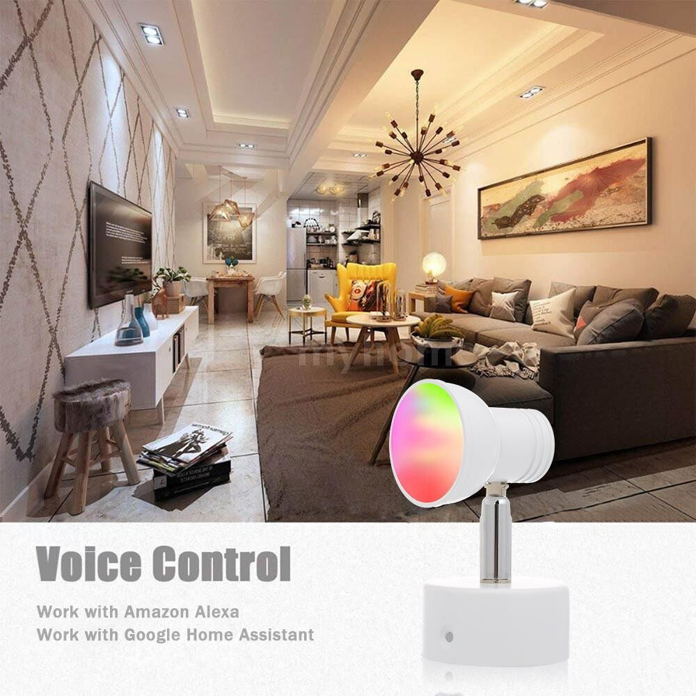 Lighting - Smart WiFi LED Wall Light RGB Multicolor Modern Wall Light 8W Dimmable Light Phone Remote Control - WHITE