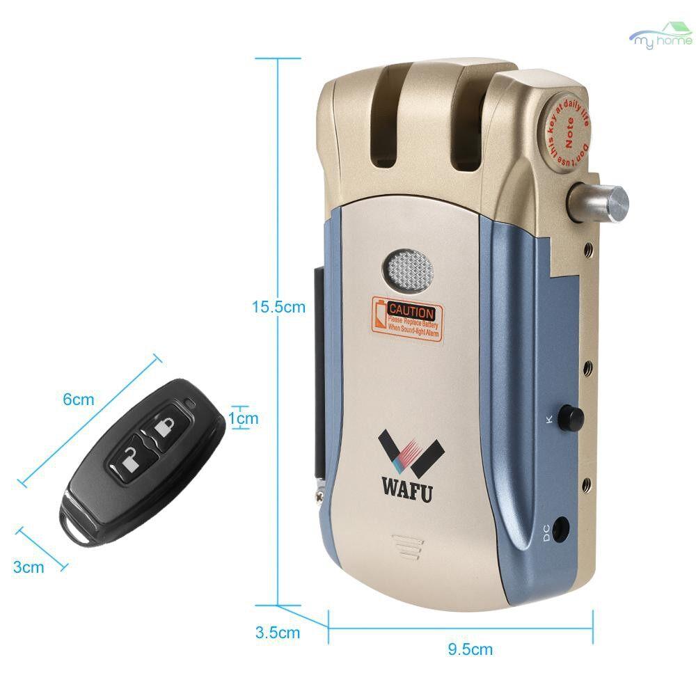 Chains & Locks - WAFU WF-008U Remote Control Intelligent Electronic Lock Invisible Keyless Entry Door Lock iOS - GOLD&BLUE / SILVER&BLUE / SILVER
