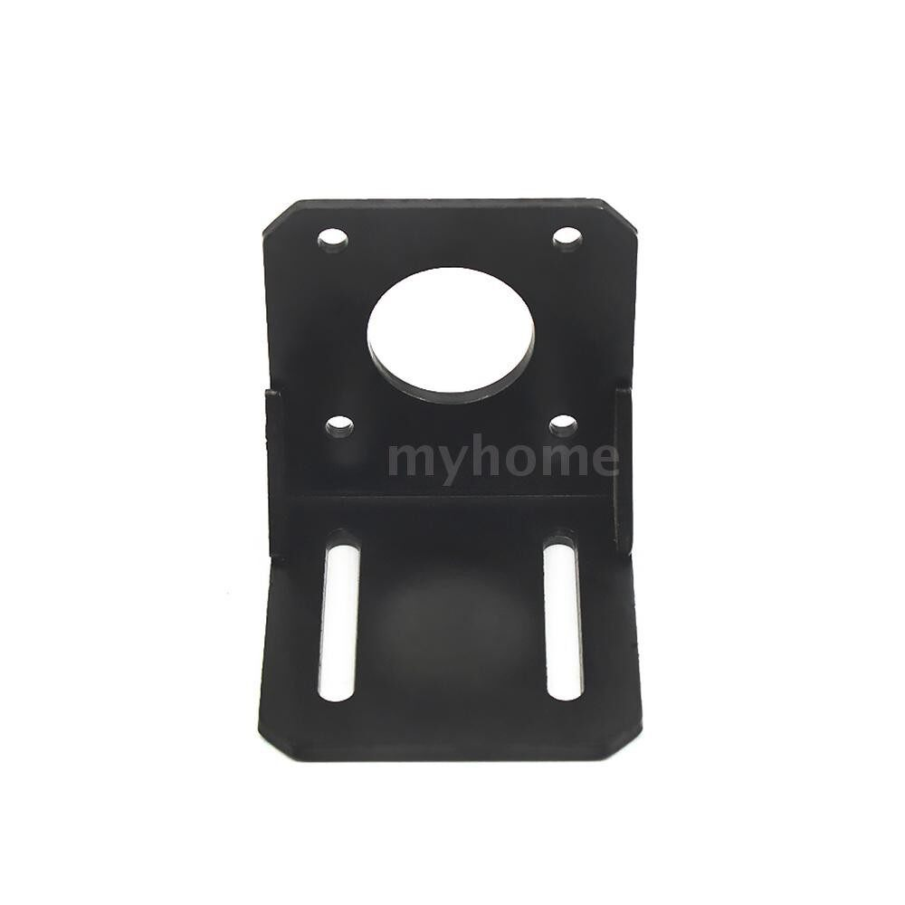 Printers & Projectors - L Shape Mounting Bracket for 42 Stepping Motor Ne17 Stepper Motor Accessories Strong - BLACK-PACK OF 2