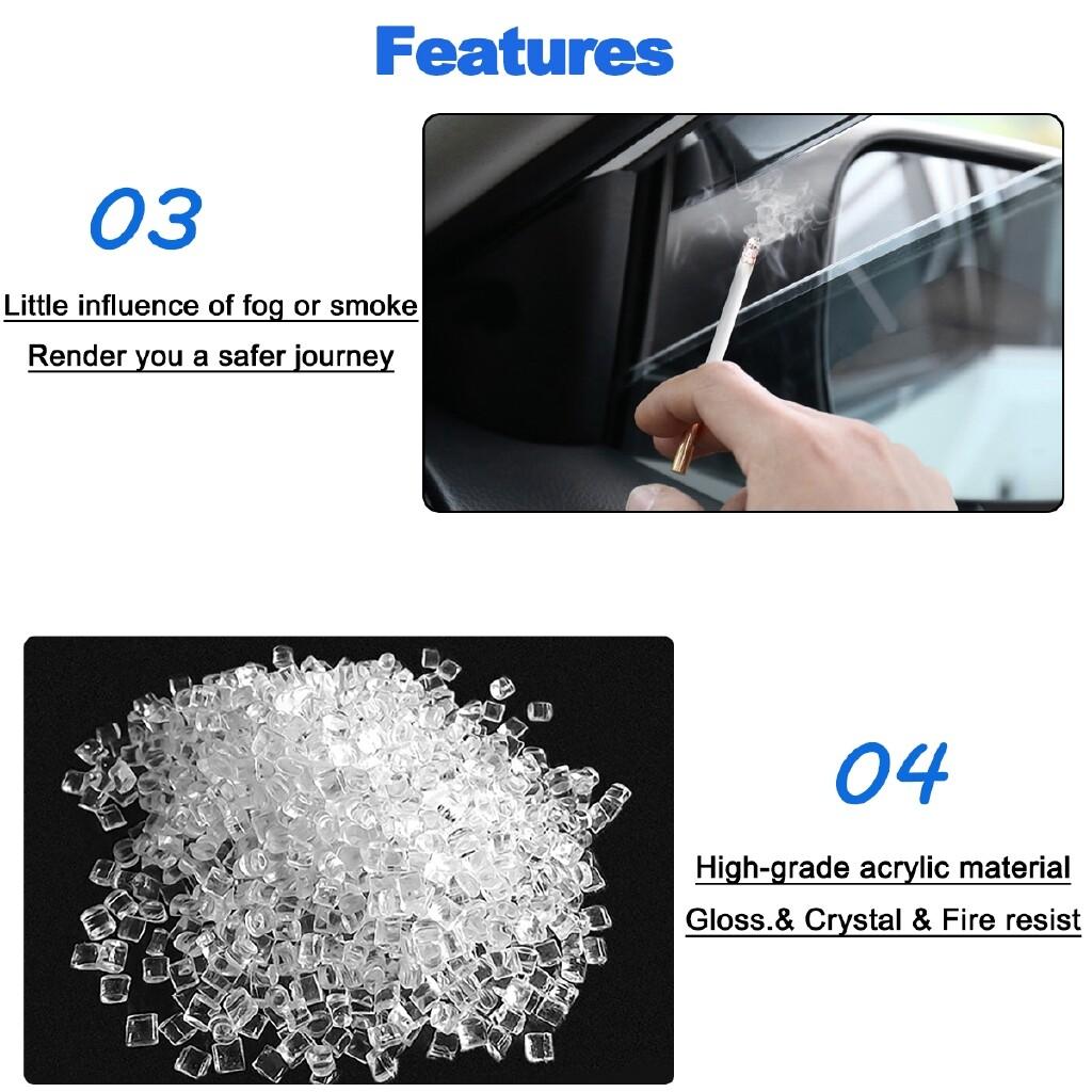 Car Accessories - 4 PIECE(s) Window Visor Sun Rain Guard Vent Shade Trim For Honda Accord - - Automotive
