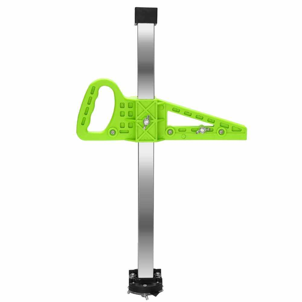Manual High Accuracy Portable Gypsum Board Cutter Hand Push Drywall Cutting Artifact Tool with Double Blade and 4 Bearings 20-500mm Cutting Range (Green)