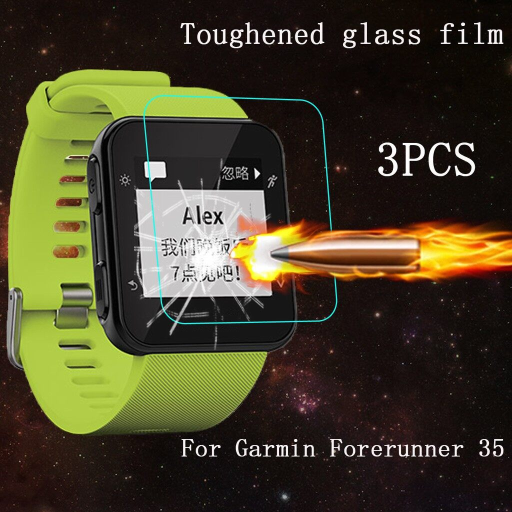 iPh Tempered Glass - 3 PIECE(s) 9H Tempered Glass Guard Film Screen Protector For Garmin Forerunner 35 - Screen Protectors
