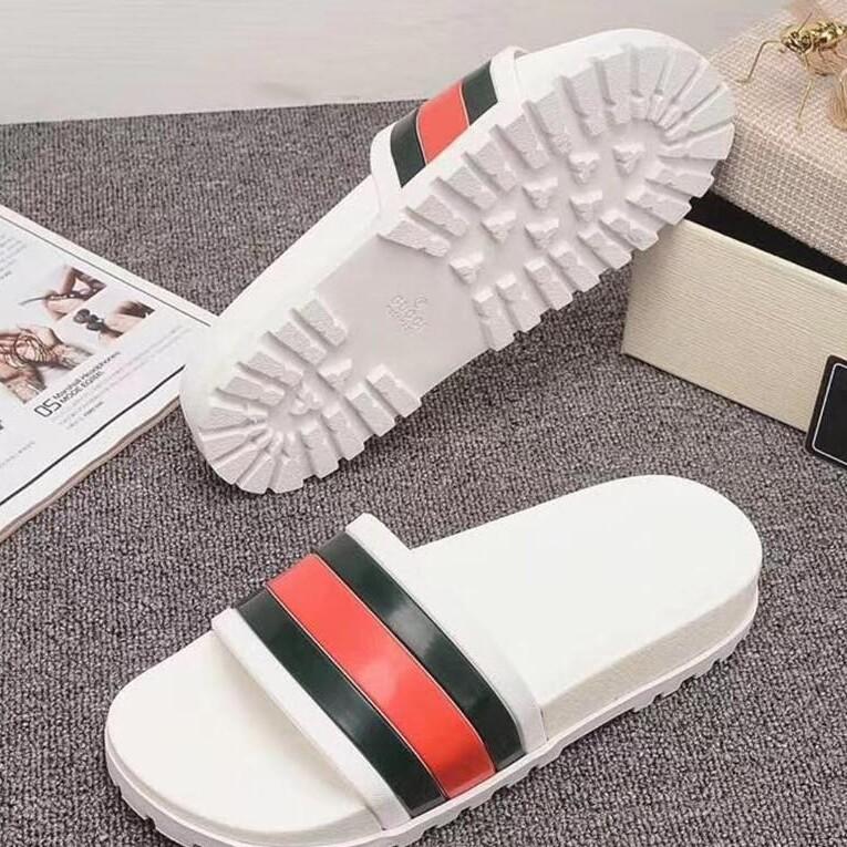 NewBlack White EUR35-46 Slippers Fashion Stripe Summer 2019 New Style Leisure Slippers For Men And Women